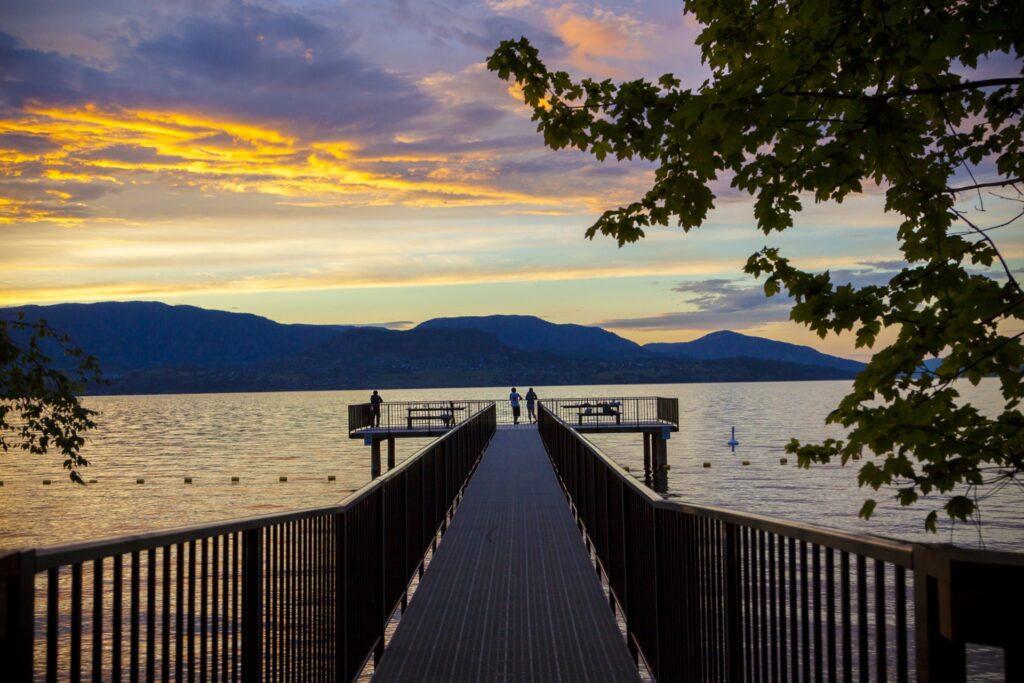 Kelowna vacation spot on Okanagan Lake